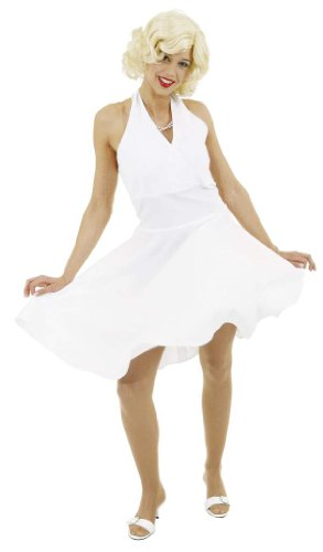 Weißes Kleid wie Marilyn Monroe Kostüm Karneval Gr. 44
