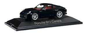 Herpa-071000-Porsche 911Carrera Coupé 991II-Negro
