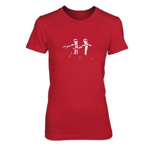Time Fiction - Damen T-Shirt, Größe: L, Farbe: rot (Tardis Kostüm Hoodie)