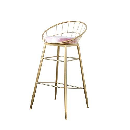 QQXX Moderner Barhocker Industrielle Retro-Kathedralen-Theke Hotel-Garderobe Café-Stühle Friseur Maniküre Tattoo-Therapie Hoher Hocker (Farbe: Rosa, Größe: Eins) (Antik Friseur Stühle)