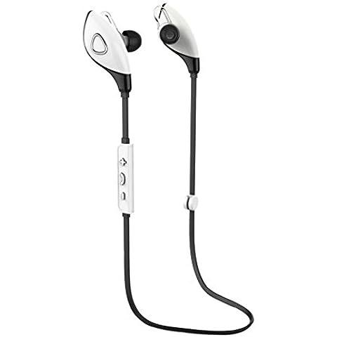 Plata,Koly Bluetooth estéreo inalámbrico Deportes Auriculares manos libres para el teléfono