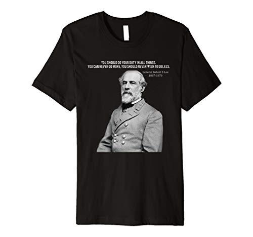 GENERAL Robert E Lee Zitat T-Shirt Herren Frau ()