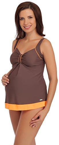 Be Mammy Maternité Maillot de Bain GRACE Brun/Orange