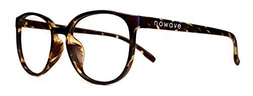 NOWAVE Gafas Neutras para PC, Smartphone, TV y Gaming   Eliminan la Fatiga y la irritación Visual   Gafas Anti LUZ Azul y UV para Pantalla   Filtro luz Azul de Descanso para pc   Unisex y Ligera