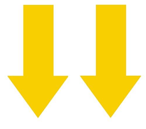 Preisvergleich Produktbild 2x Abschlepphaken Pfeil Neon fluoreszierend gelb passend für Rally, Viper 4 cm x 8 cm
