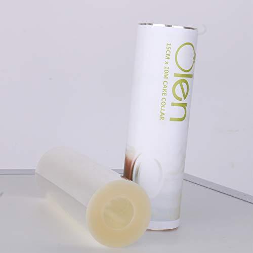 Acetato duro, hojas de acetato transparente. Cuello de pastel acetato hoja espesor 125 micras Cuello de pastel de 15 cm de ancho, 10 metros de longitud. Cuello acetato para tartas hecho de tereftalato de polietileno. El paquete incluye: 1 rollo de ac...