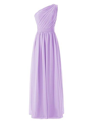Dresstells, une épaule robe de soirée robe de demoiselle d'honneur longueur ras du sol Lavande