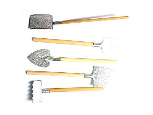 Generico set attrezzi contadino pale in metallo per pastori 7,10 cm presepe ricevi un portachiavi g. armeno artigianali shepherds crib