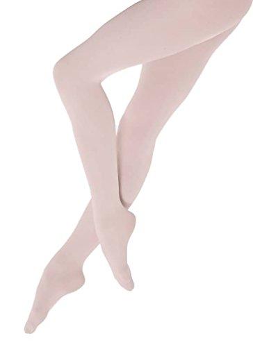 Weiche Kinder Ballett Strumpfhose mit Fuß, Farbe Ballettrosa, Größe 11-13 Jahre