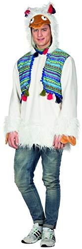 Tier Hufe Kostüm - Rubie's Herren Kostüm Alpaka Peru Weiß Lama Tier Lima Fasching Karneval (M)