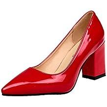 5d336ea16 Zapatos de tacón cuadrado de moda para mujeres de