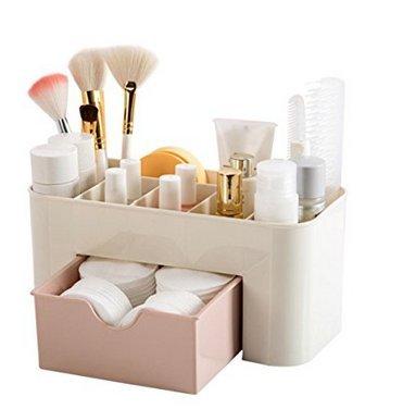 Scopri offerta per Yolandabecool - Organizer/espositore da tavolo per cosmetici, con cassetto, A, rosa, 1