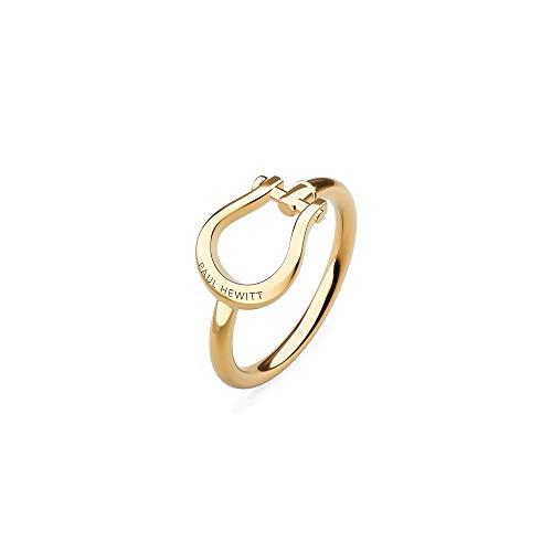 PAUL HEWITT Damenring Gold Shackle - Damen Edelstahl Ring (vergoldet), Fingerring für Frauen in Schäkel-Form