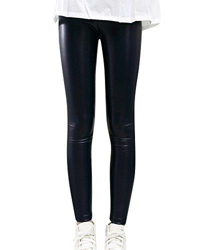 Niñas Leggings Pantalones de Imitación de Cuero Lápiz Invierno Grue