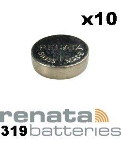 Renata 319 SR527SW Knopfzelle Uhrenbatterie Swiss 1,55 V - 10 Stück - 319 Uhrenbatterie