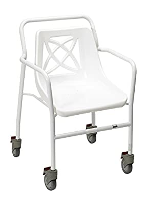 Homecraft Harrogate Fixed Height Shower Chair with Wheels - inexpensive UK light shop.