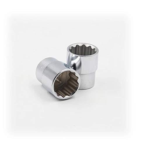 SENRISE Steckschlüsseleinsätze, 1/2-Zoll-Antrieb, 12-kant 10-30 mm, Ratsche, tief, metrisch, silber