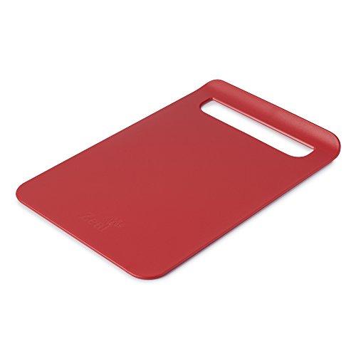 Zeal Dritto a Pan Slim Tagliere da Cucina, Rosso, 33.5x 22.5x 2cm