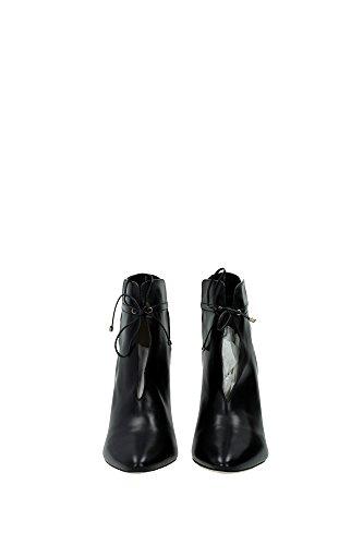164MURPHYBLACK Jimmy Choo Chaussure mi montantes Femme Cuir Noir Noir