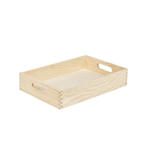 Plateau de service en bois 20 x 30 cm plateau en bois clair petit déjeuner repas plat