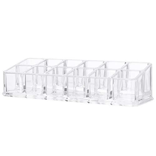 PIXNOR 12 Steckplätzen Acryl Make-up Lippenstift Display Stand Storage Rack Halter Kosmetik Organizer