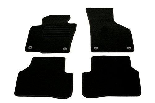 Vw 2010-fußmatten Passat (Auto Fußmatten Velours Set 4-teilig passgenau, schwarz)