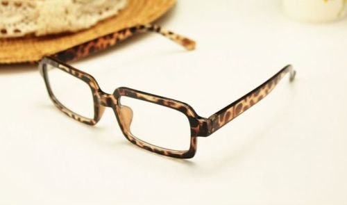 Schildpatt Geek Retro Fashion Brille Retro Vintage Wayfarer 60S 80s