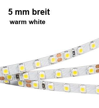 LED Streifen RT1 5mm breit 24V 48W warmweiß für Treppen Stufen alu Profil STEKO-2000 (Treppenstufen Streifen)
