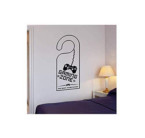 Wandaufkleber Applikation Tapete Wandtattoo Gaming Zone Videospielspiel Zimmer Gamer Vinyl Aufkleber 22 *   55Cm