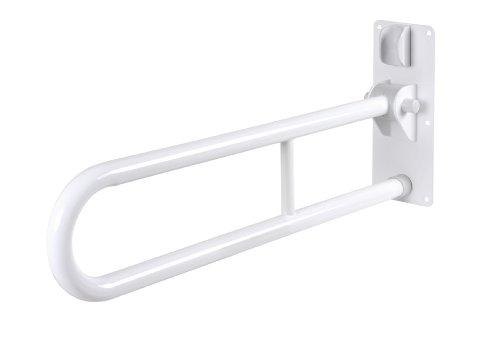 GAH-Alberts 140304 Stützklappgriff - klappbar, Stahl, weiß kunststoffbeschichtet, 765 mm