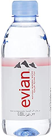 evian Natural Mineral Water 330ml, Case of 24