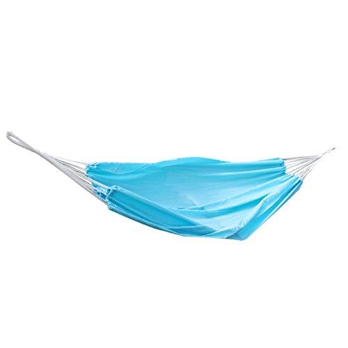 Voyage Portable Camping En Plein Air Lit Suspendu De Couchage Hamac Avec Sac Bleu