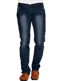 Demokraazy Men's Regular Fit Denim Dark Blue Jeans