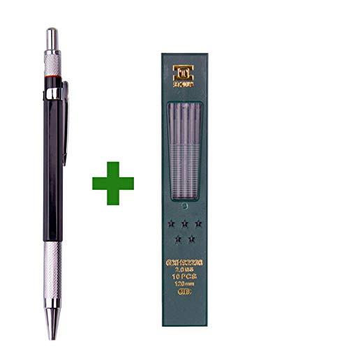 2.0mm mechanischer Zeichnungs-Zeichnungs-Bleistift-Blei-Halter für Schule und Büro-Briefpapier (Bleistift-halter Einziehbare)
