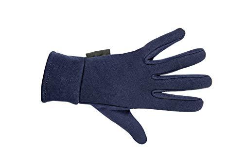 HKM Damen Reithandschuh -Fleece Handschuhe, Dunkelblau, M