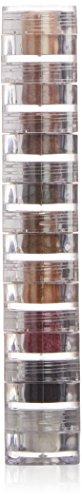 Black Shimmer Eyeliner (BellaPierre Schimmerpuder, Stapelset mit 9 Stück, 15,75 g, Bella)