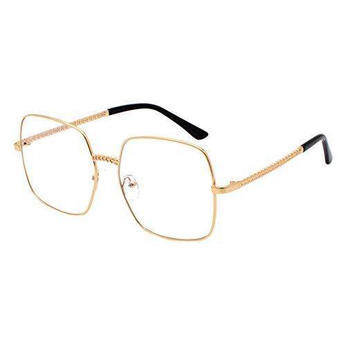fazry Herren Damen Polarisiert Sonnenbrille Metallrahmen Mode Brille Brillen(Gold)