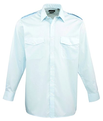 Premier Langarm Shirt Pilot Licht Blau 16