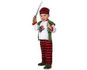 Atosa- Disfraz Pirata, Color blanco y rojo, 0 a 6 meses (16915)