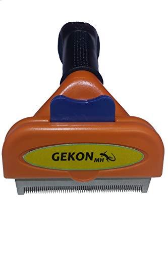 Gekon-mh brosse cheveux outils - brosse pour animaux à poils courts -brosse cheveux autonettoyante réduisant la chute des poils jusqu'à 90% - brosse en acier inoxydable pour chien, chat, lapin, etc.