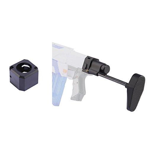 Worker Stock, Foxom Ligero Shoulder Stock + Conector Cola para Nerf Serie N-Strike, Serie Nerf Modulus Accesorios de Actualización