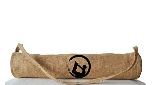 Amore SONP handgefertigt Yogamatte Taschen mit Yoga Pose Stickerei-Persönlichen Jute Taschen Yoga-taschen-Yoga Tragetaschen-Yo...
