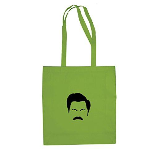 Mr. Moustache - Stofftasche / Beutel Hellgrün