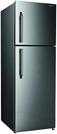 Nikai Double Door Frost Free Refrigerator, Silver -NRF400FN4SS, 1 Year Warranty