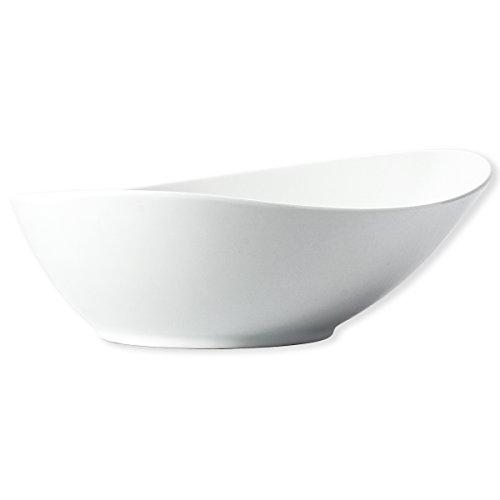 Bruno Evrard Saladier Blanc asymétrique en Porcelaine 26cm - PILA