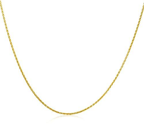 Miore Kette Gelbgold 9 Karat / 375 Gold Kette  Weizekette 45 cm