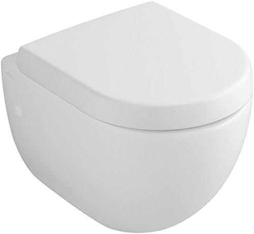 Preisvergleich Produktbild Villeroy & Boch Flachspülklosett (ohne Deckel) Subway 660310 370x560mm Weiß Alpin, 66031001