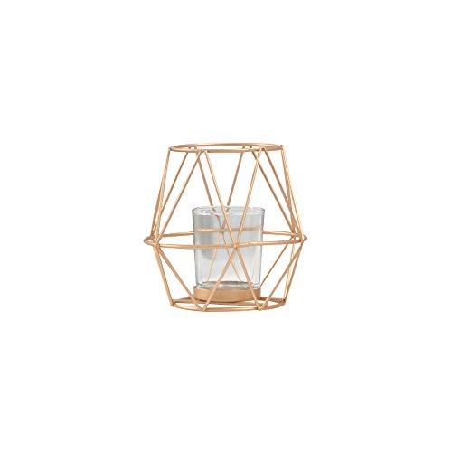 Kmyx golden geometric ferro battuto candeliere creativo cena a lume di candela decorazione di nozze ornamenti luce luxury gold accessori per la casa candelabro lanterna
