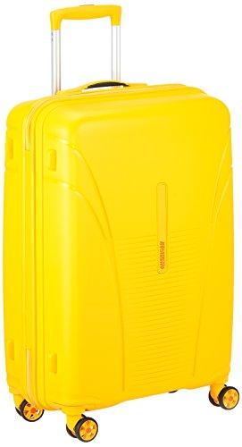 Maleta American Tourister amarilla con ruedas tipo trolley