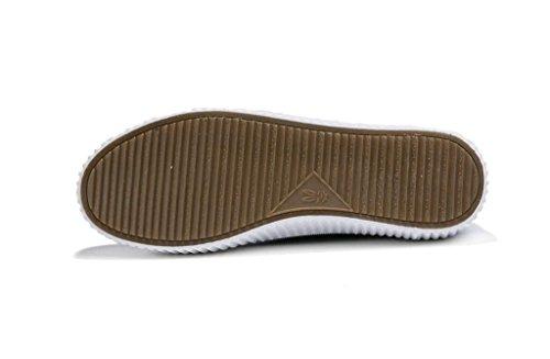 SHFANG Lady Shoes Retro Simple Spessore Bottone Pu Movimento Libero Studenti Scuola Shopping Nero Bianco Black